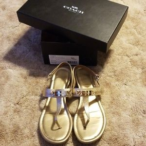 Coach Caterine Metallic/Gold Sandals